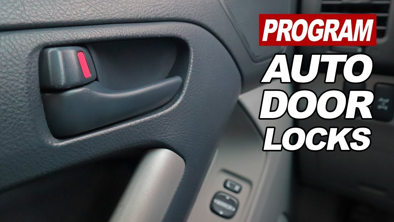 How To Program The Auto Door Lock Function On 2003 2009 4runners Youtube