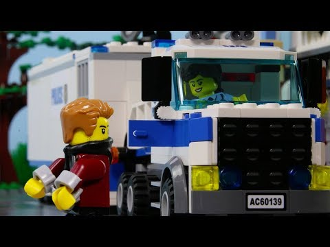 LEGO City Police Truck Brick Build STOP MOTION LEGO City Crook Escape! | LEGO City | Billy Bricks