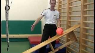 Развиваем быстроту с помощью мяча и скамейки