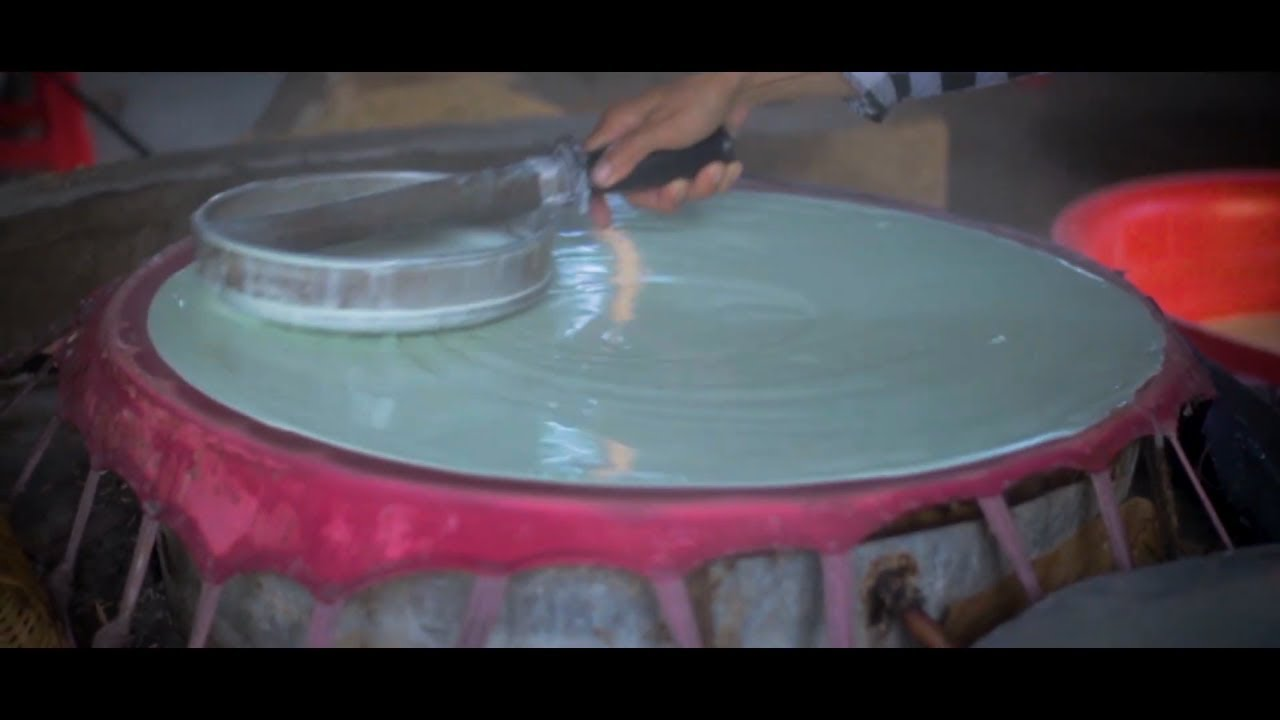 Vietnam Traditional Rice Noodles Process