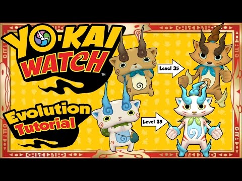 Yo-Kai Watch - Evolution Tutorial Of ALL 15 Yo-Kai! [Tips & Tricks]