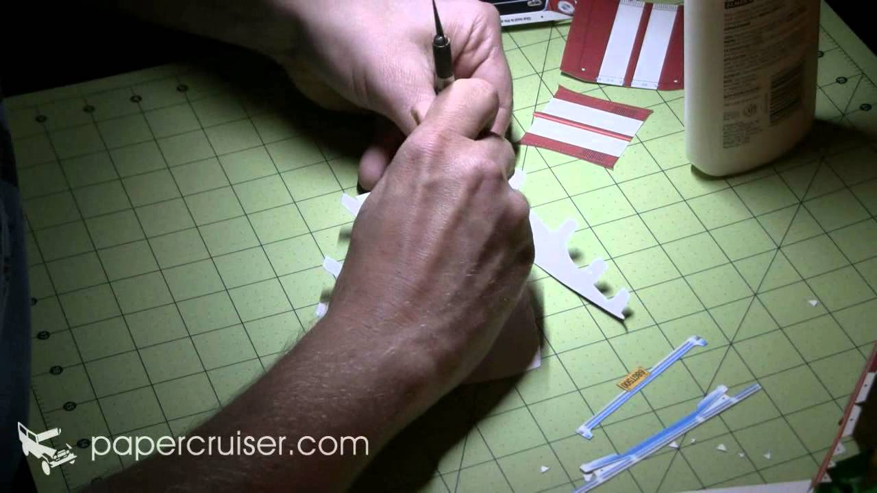 Papercraft Building the 1968 Shelby Mustang GT500 KR paper model by papercruiser.com
