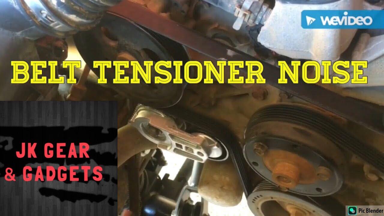Jeep JKU belt noises caused by tensioner pulley