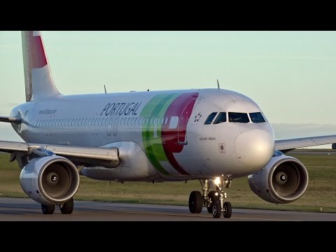 TAP – Air Portugal A320 | Landing and Takeoff at Luxembourg Int'l Airport