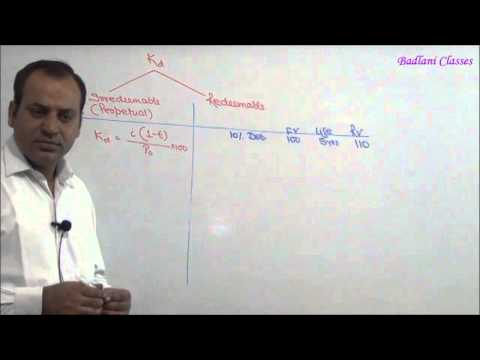 Cost of Capital - Lecture 1