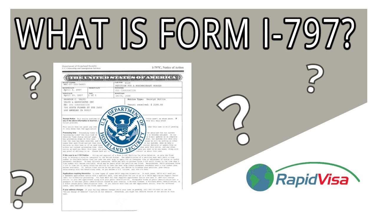 What is Form I-797?