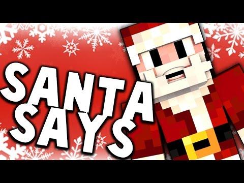 SANTA SAYS! New Minecraft Mini Game!