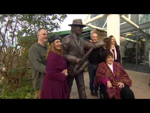 Sir John Dankworth Sculpture Unveiled at The Stables