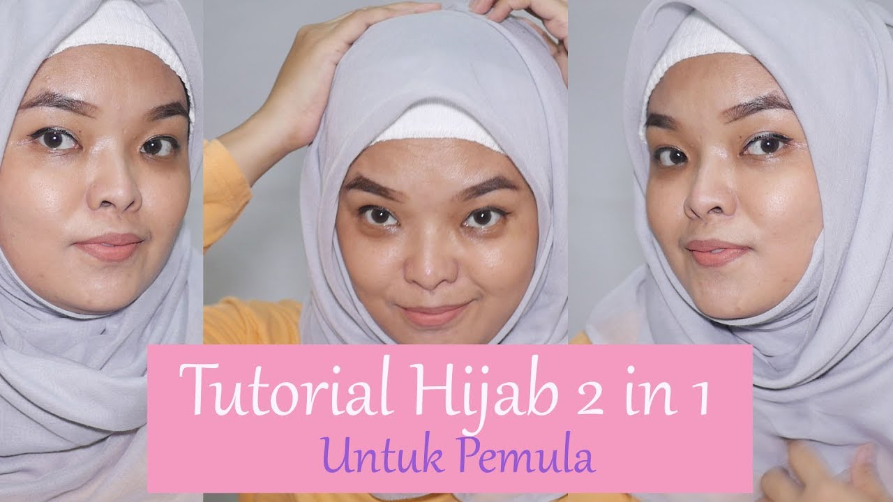 Tutorial Hijab Simple Square 2 In 1 For Travelling Untuk Pemula Youtube