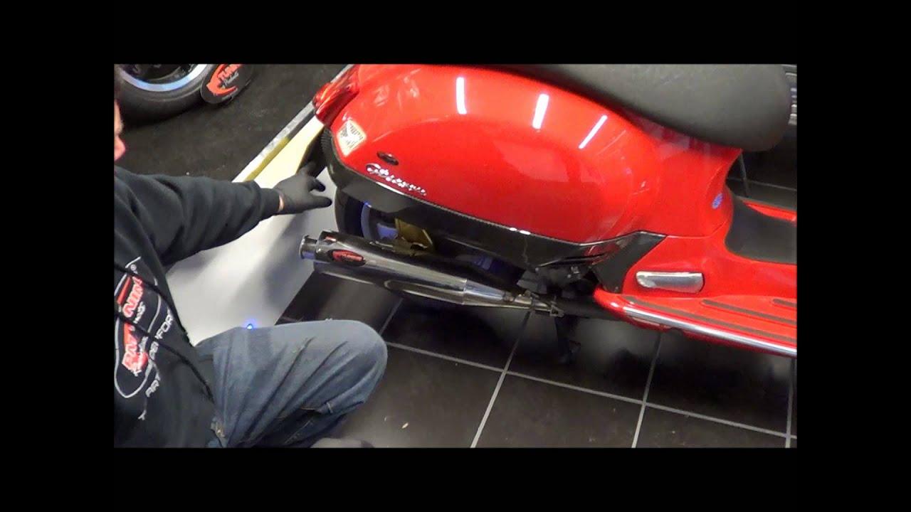 pm tuning vespa gts carbon fiber side panels youtube. Black Bedroom Furniture Sets. Home Design Ideas