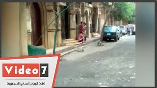 شاهد.. المنزل الذى قتل به أحفاد الفنان المرسى أبو العباس ببولاق الدكرور أثناء مباراة المنتخب وروسيا