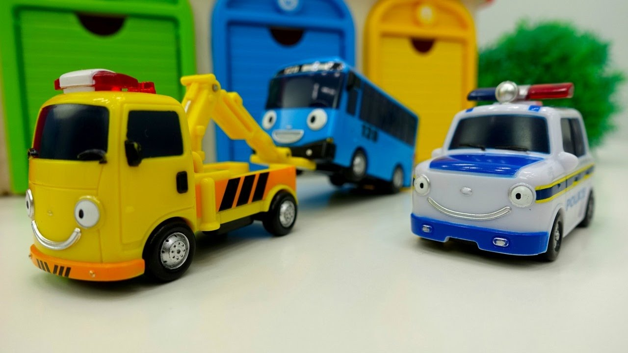 Tayo Toys. Traffic Light Toy Cars Videos.