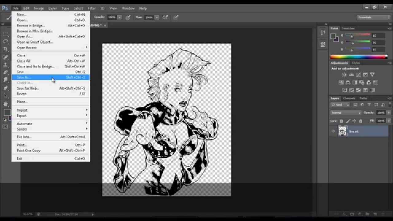 Photo Line Art Converter : How to clean line art in photoshop cs separating lines from