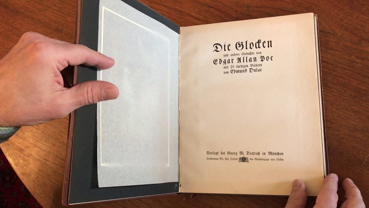 Edgar Allen Poe The Bells 1914 Dulac Illustrated Lmtd Ed 144 Old Leather Book