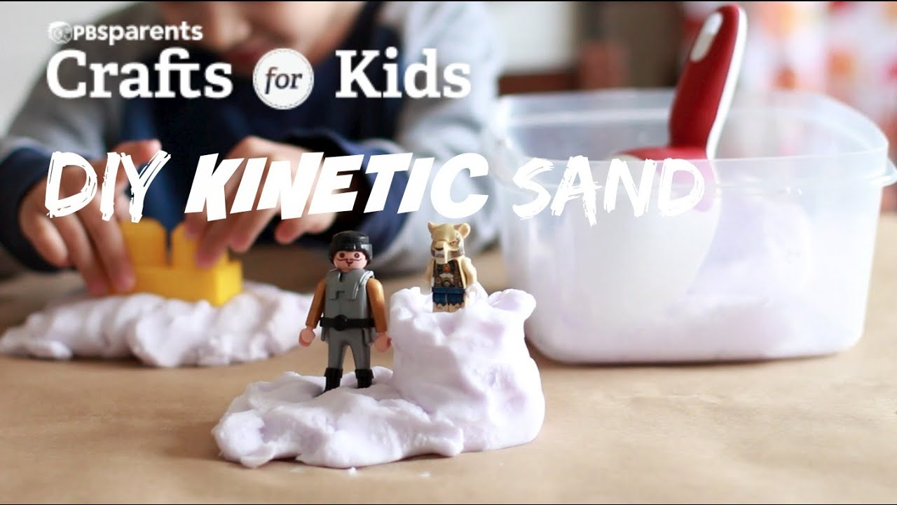 Craft Ideas For Kids Videos Part - 24: DIY Kinetic Sand | Crafts For Kids | PBS Parents - YouTube