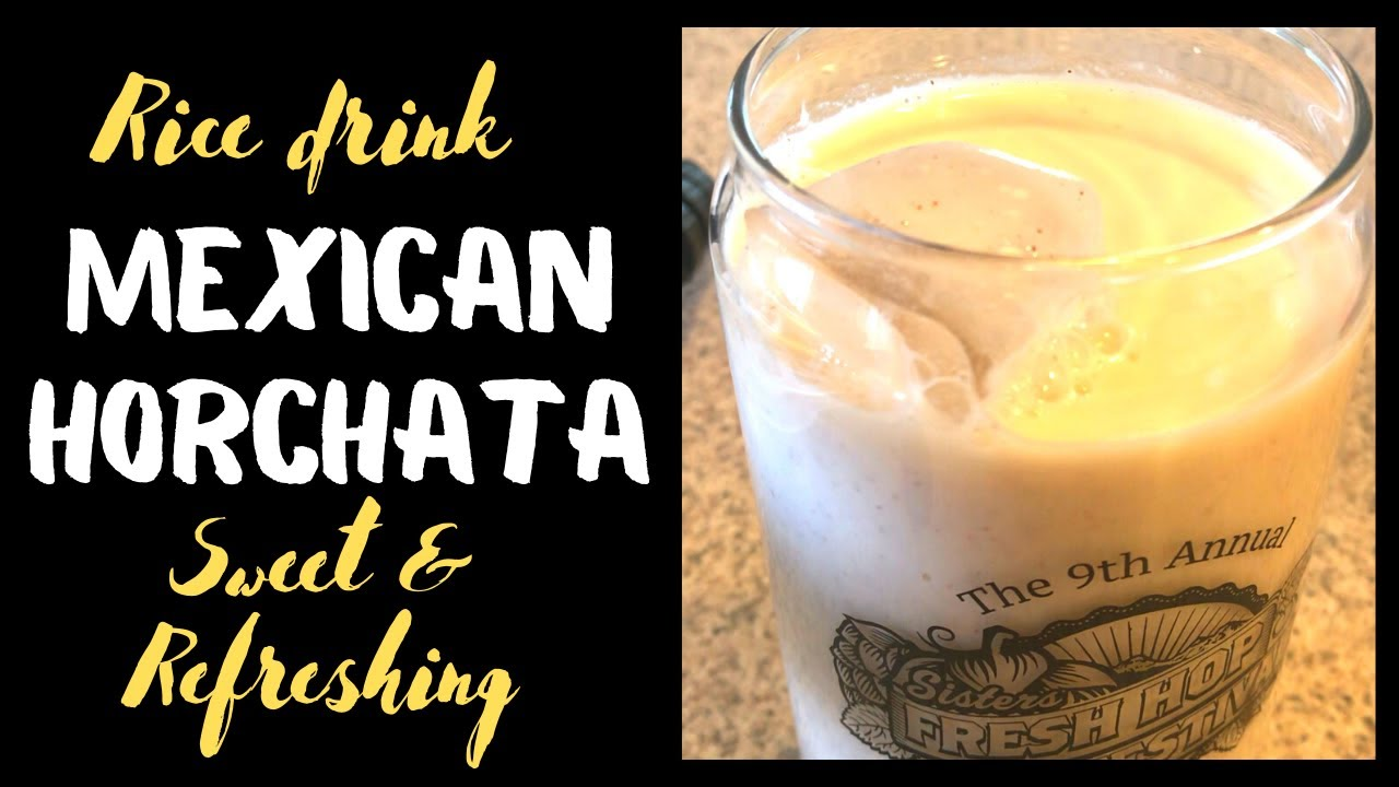 CINNAMON RICE DRINK. HORCHATA, TRADITIONAL MEXICAN SWEET ...