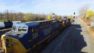 Aerial videos of trains going thru Fairport, NY this past fall.