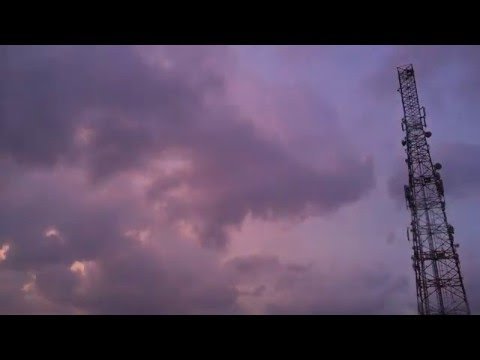 BASE TRANSCEIVER STATION TOWER TIME LAPSE