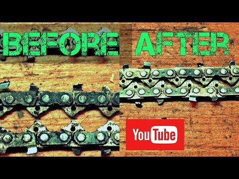 How to clean chainsaw chain! THE SECRET!!!!