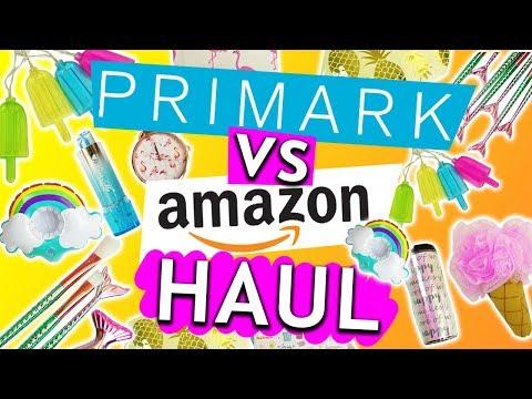 Primark Haul  vs. Amazon Haul   Sommer 2018 CHALLENGE mit Eva & Kathi   Flamingos Lichterkette Deko