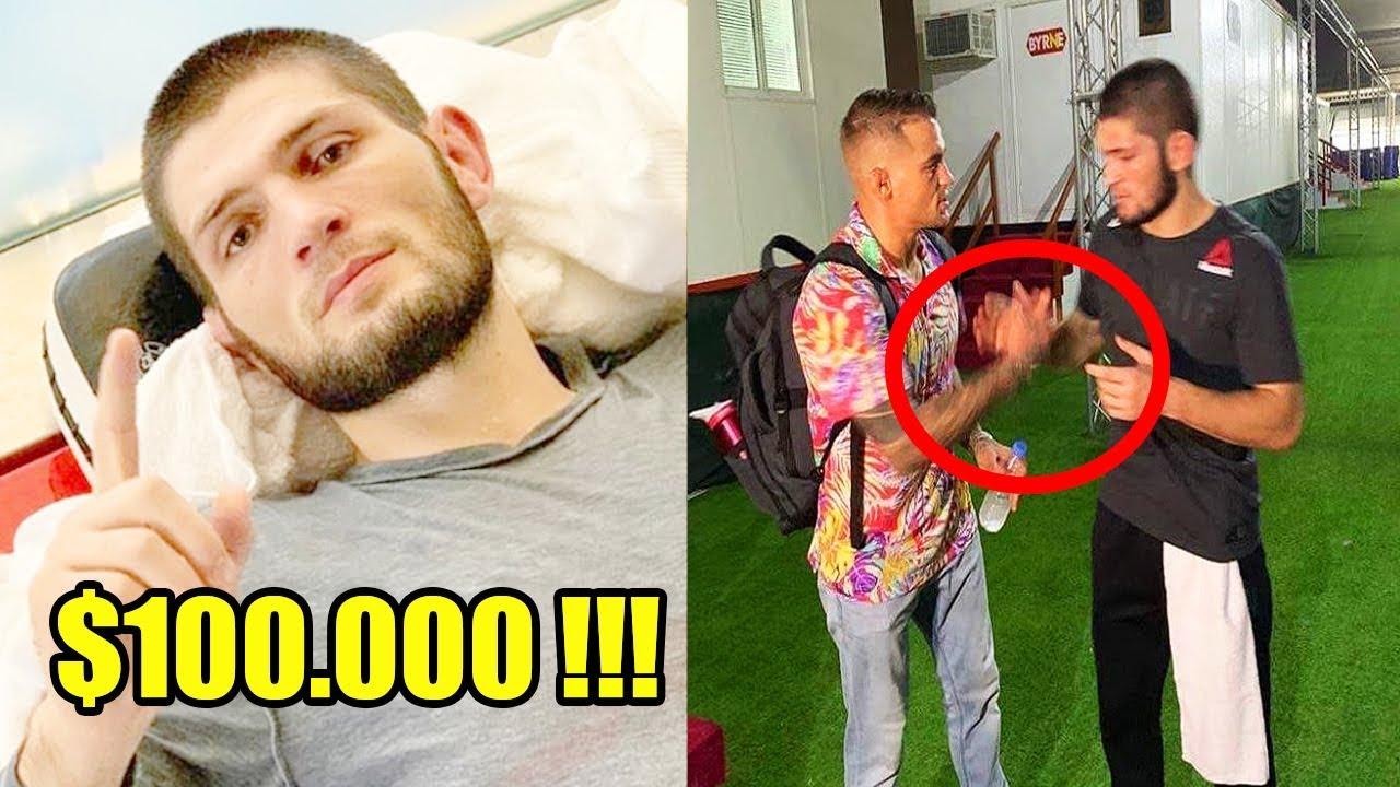 ХАБИБ ПОЛУЧИЛ $100 000 ЗА ФУТБОЛКУ, ДОСТОЙНЫЙ ПОСТУПОК ХАБИБА, МАГОМЕДШАРИПОВ НА UFC МОСКВА
