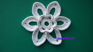 Цветок. Вязание крючком(Сайт