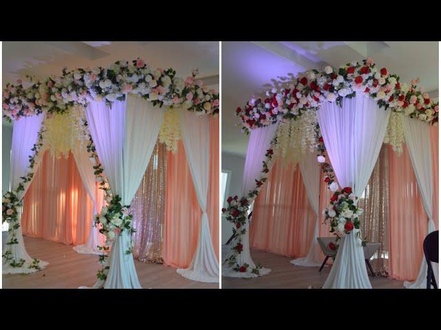 DIY - Floral canopy decor DIY - wedding Decor