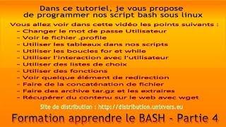 Formation Linux, BASH et le terminal - Partie 4