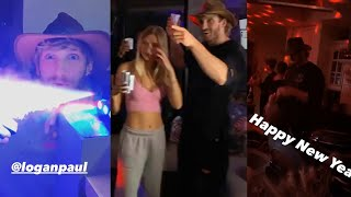 Logan Paul Throws Nęw Years Party with Josie Canseco