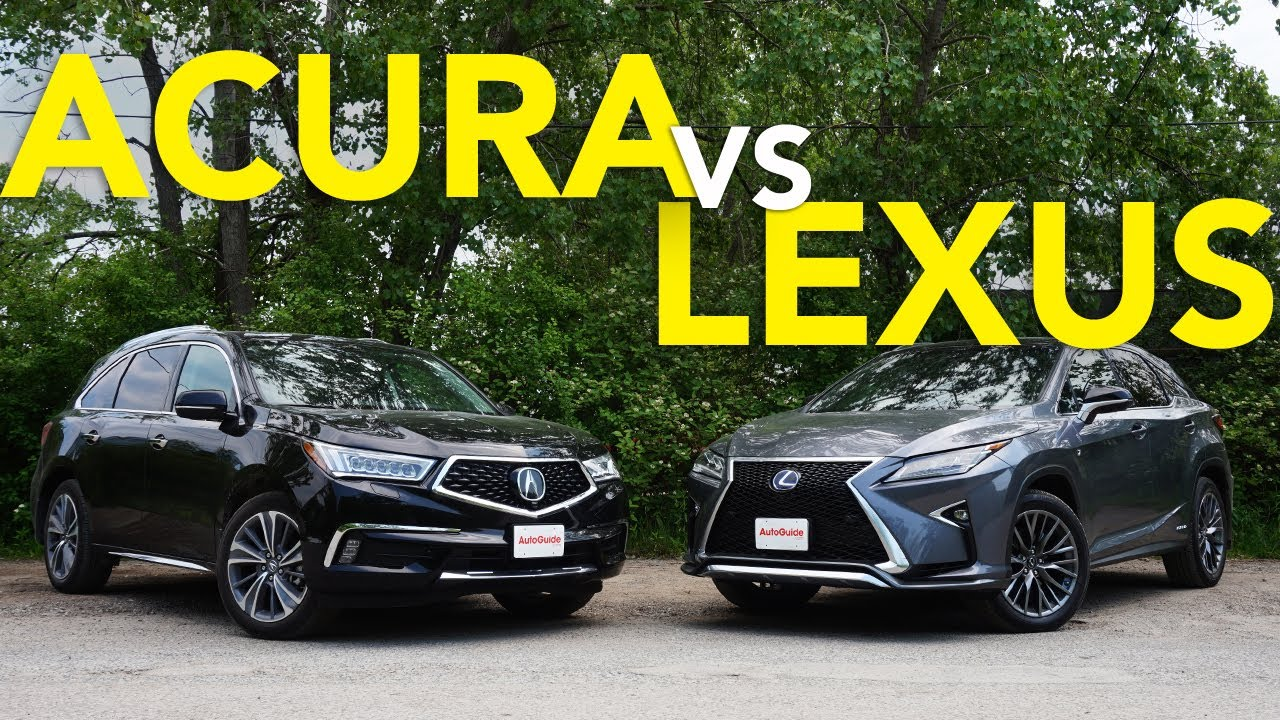 Lexus Rx Vs Acura Mdx >> 2019 Acura Mdx Vs Lexus Rx Comparison Which Luxury Crossover Does A Better Job