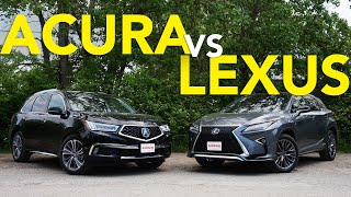2019 Acura MDX vs Lexus RX Comparison: Which Luxury Crossover Does a Better Job?