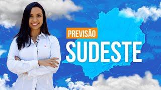 Previsão Sudeste - Temporais em SP e MG.