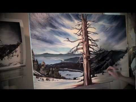 Lake Tahoe Original Painting on Canvas by David Davis