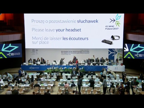 41st World Heritage Committee 10 July 2017 AM