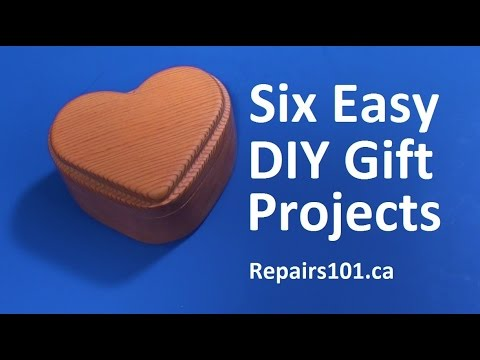 How to make Six Easy DIY Gift Projects - Woodshop Edition