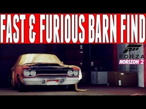 Forza Horizon 2 Fast and Furious Barn Find : Furious 7 Plymouth Road Runner Barn Find Location