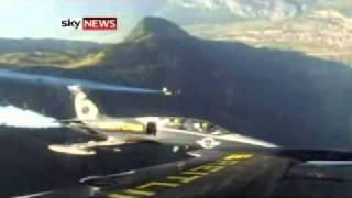 Jetman Uses Custom-Built Suit To Fly In Formation Over Alps