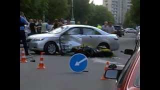 Дтп Мотоцикла И Авто Днепродзержинск.Жесть