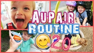 MY AUPAIR ROUTINE 2.0 - WITH KIDS! + Giveaway!