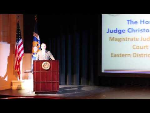 Distinguished Speaker - Judge Christopher H. Steger
