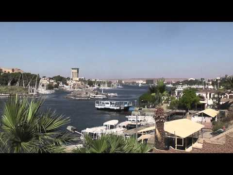 views of Aswan and Elephantine island
