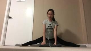 [20 time] flexibility chanllenge ~ splits ~ stretching ~ figure skating life ~