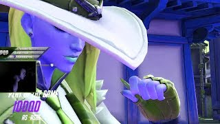 IDDQD DOMINATING AS ASHE! 45 ELIMS! POTG! [ OVERWATCH SEASON 18 TOP 500 ]