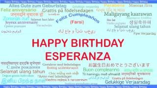 Esperanza   Languages Idiomas - Happy Birthday