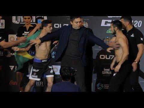Andijonlik MMA Jangchisi Braziliyalik Bilan Janjallashib Ketishiga Oz Qoldi. Vazn O'lchash Marosimi