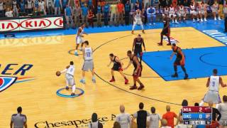 NBA 2K14 with 17 scoreboard