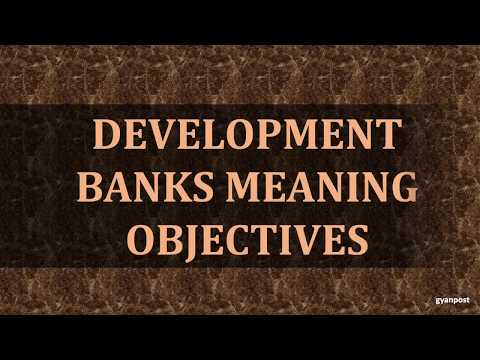 DEVELOPMENT BANKS MEANING OBJECTIVES