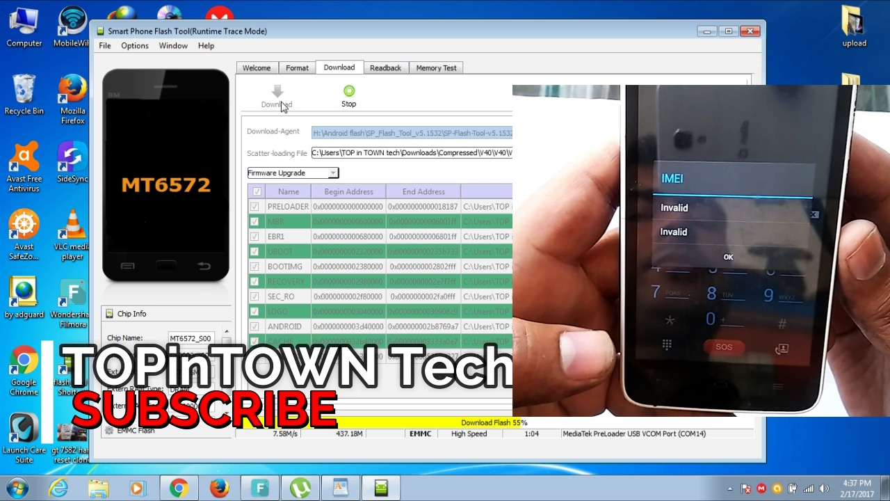 How to Voice v40 Flash and invalid IMEI repair with sp tools