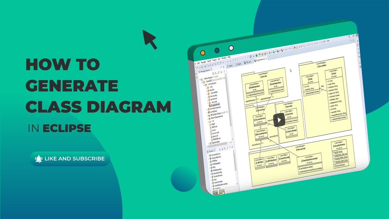 How To Generate Uml Class Diagrams In Eclipse كيفية توليد Objectaid Youtube