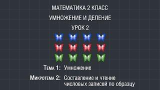 Математика 2 класс. Урок 2. Составление и чтение числовых записей по образцу